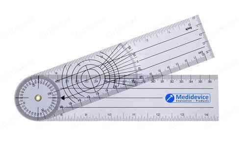 Goniomètre standard de Medidevice 22 cm, 1 mm épaisseur