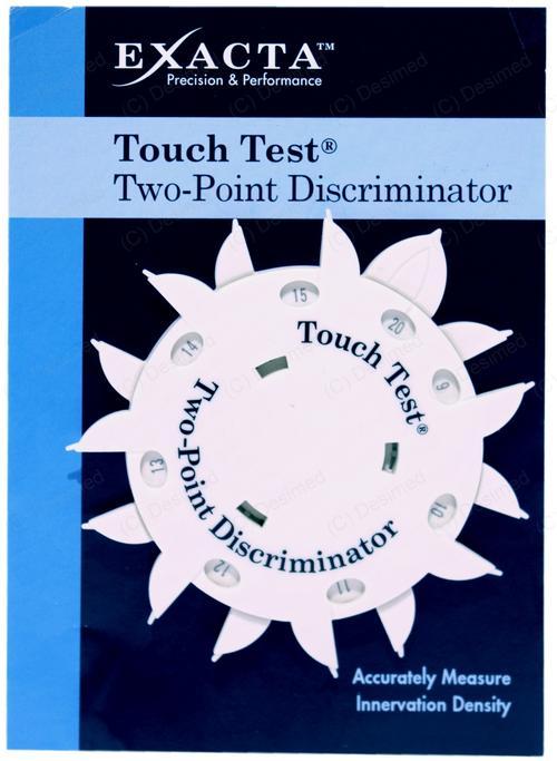 Discrimination 2 points Touché-Test pour la mesure de sensibilité