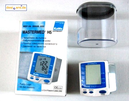 MASTERMED H5 Electronic Blood Pressure and Puls Meter