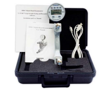 digital hand dynamometer DHD-3 including Software G-Star USB computer connection -90 kg 200 lb